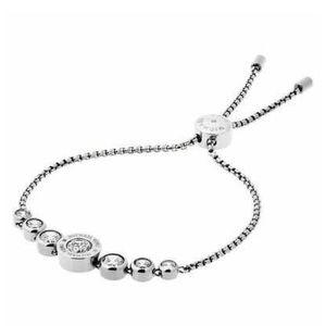 Michael Kors Silver Crystal Adjustable Bracelet